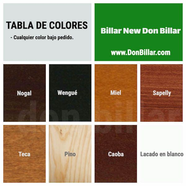 Acabados de la madera New Don Billar